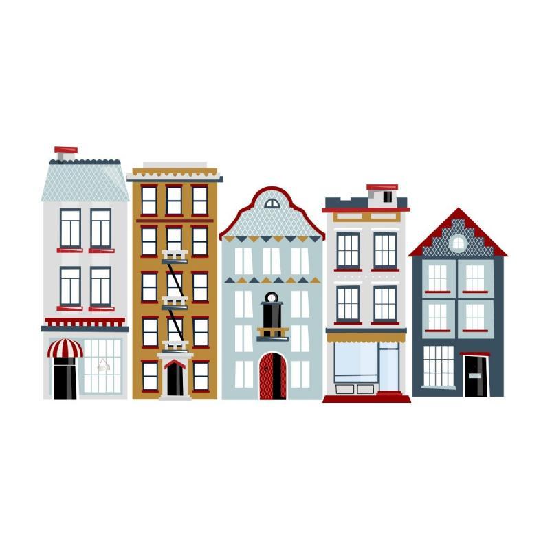 Naklejka Kamieniczki Life In The City