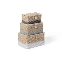 Childhome Zamykane koszyki papierowe zestaw 3 szt.