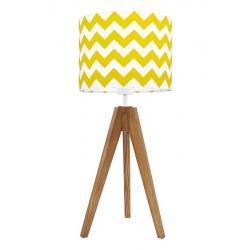 Young Deco - Lampa Na Stolik Chevron Żółta (podstawa do wyboru)