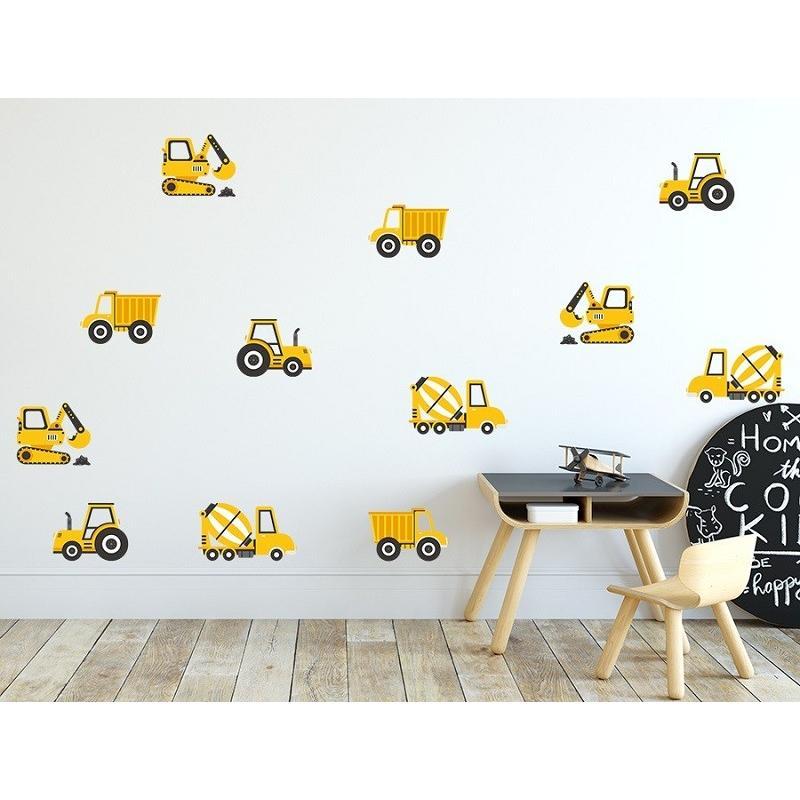 Naklejka Pojazdy Budowlane Żółte