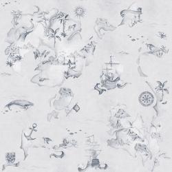 Tapeta Mapa Stories From The Sea Blue