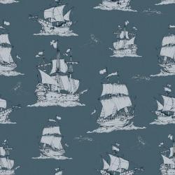 Tapeta Okręty Na Morzu Navy Blue