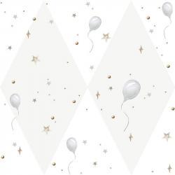 Tapeta Balloons Delicate Gray
