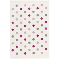 Dywan Confetti cream/pink-silver grey