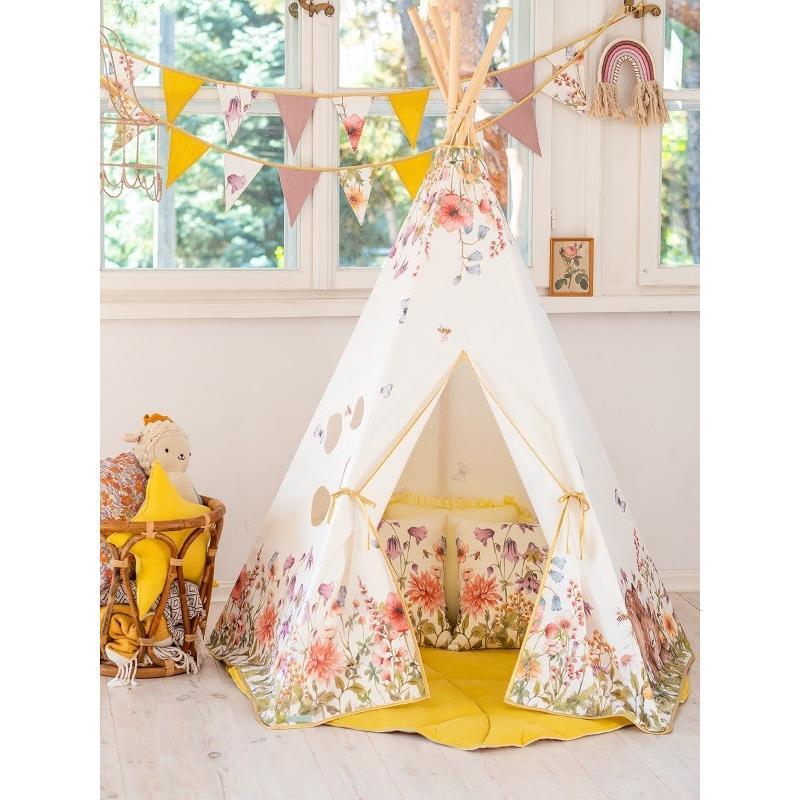 """Namiot tipi dla dzieci """"Polne kwiaty"""""""
