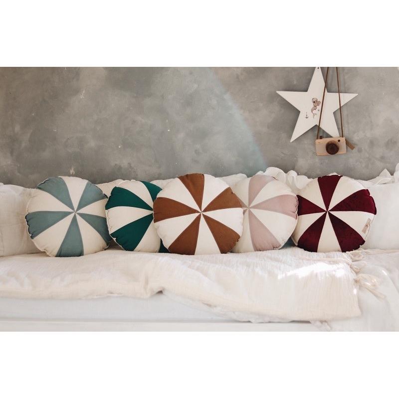Poduszka patchworkowa Pudrowy Cukierek