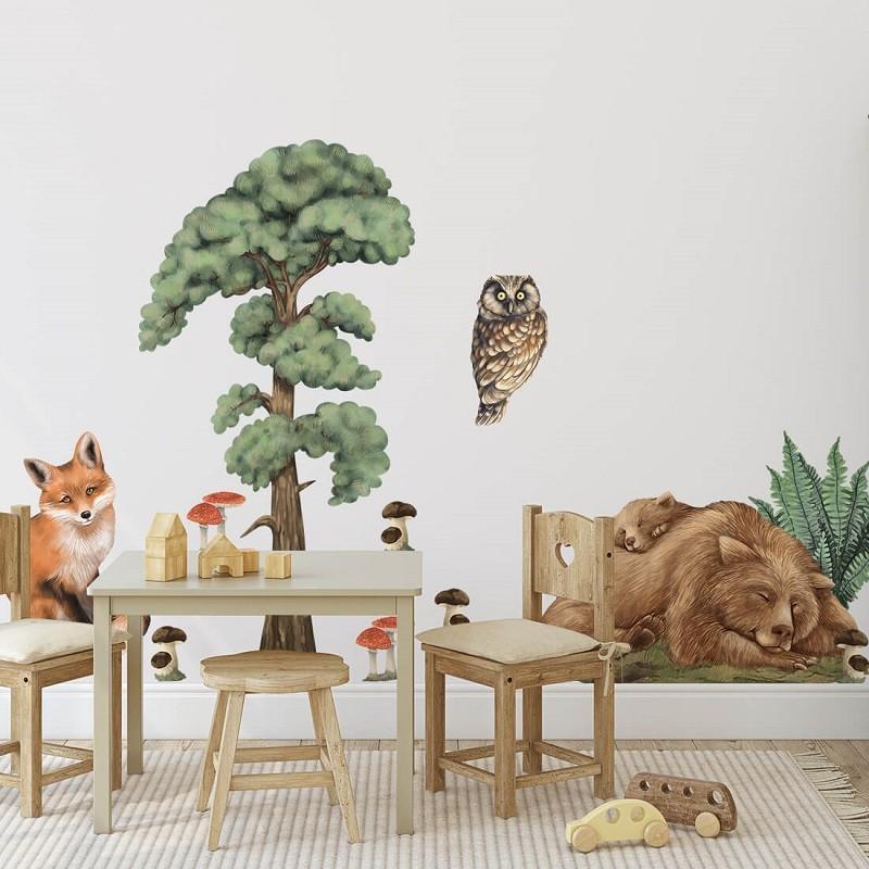 Naklejka Leśne Zwierzęta I