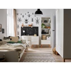 Pinio Swing Zestaw A (szafa dwudrzwiowa + łóżko 200x90 + biurko + regał)