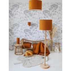 Lamps&Co Lampa Wisząca Lniana Musztardowa
