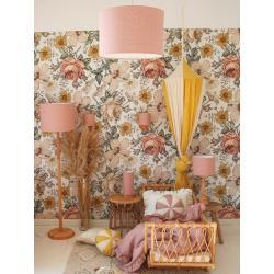Lamps&Co Lampa Wisząca Lniana Pudrowy Róż