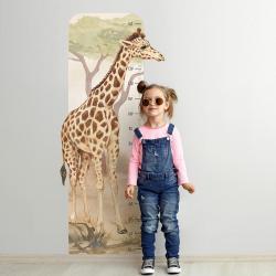 Naklejka Miarka Wzrostu Żyrafa