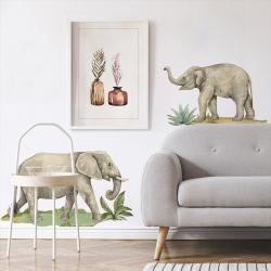 Naklejka Zestaw Słonie