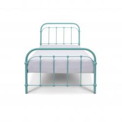 Łóżko metalowe Babunia - turkusowe