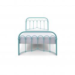 Łóżko metalowe Avia - turkusowe