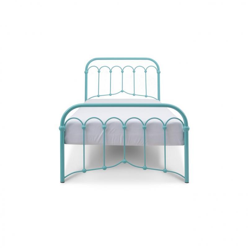 Łóżko metalowe Oriental - turkusowe