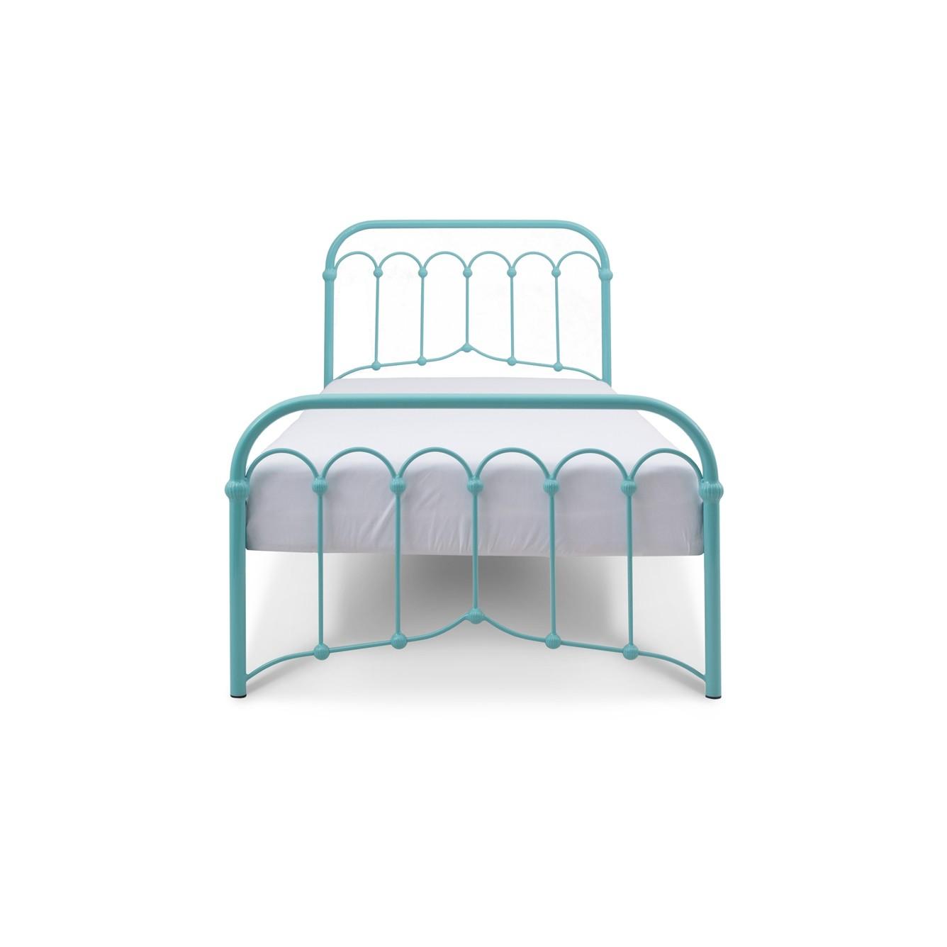 Avia łóżko Metalowe 90x200cm Turkusowe