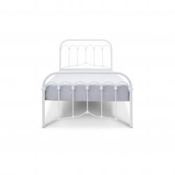 Łóżko metalowe Oriental - białe