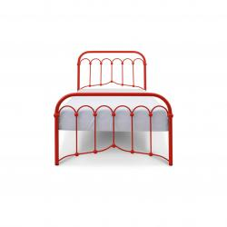Łóżko metalowe Oriental - czerwone