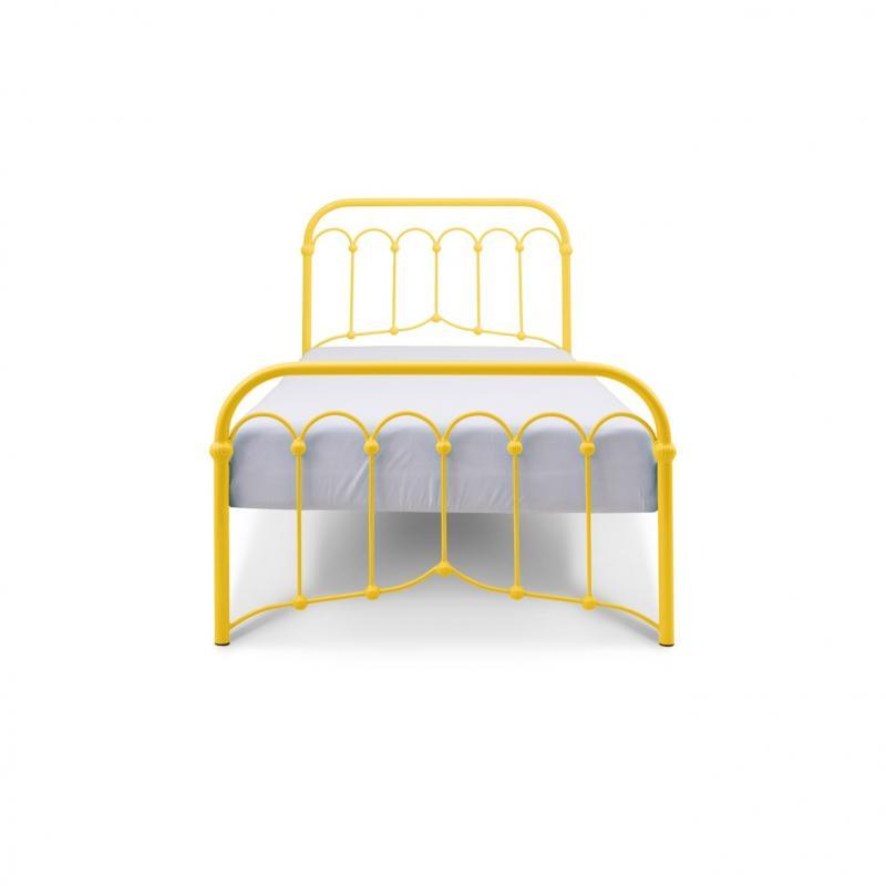 Łóżko metalowe Oriental - żółte