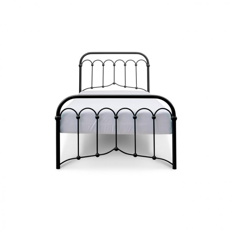 Łóżko metalowe Oriental - czarne
