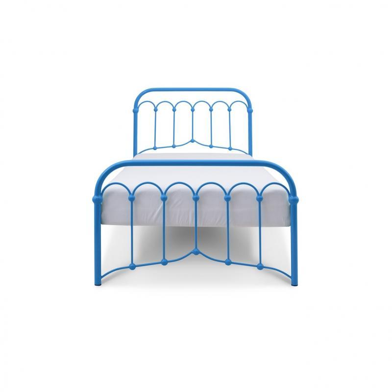 Łóżko metalowe Oriental - niebieskie